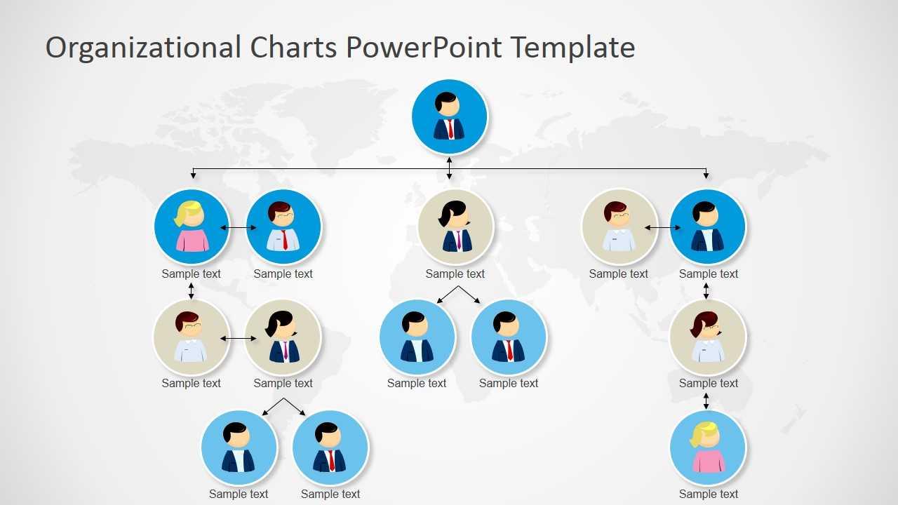 Organizational Charts Powerpoint Template Pertaining To Microsoft Powerpoint Org Chart Template