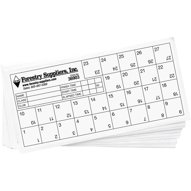 Orienteering Control Cards With Orienteering Control Card Template