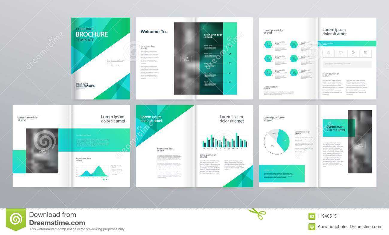 Page Layout For Company Profile, Annual Report, And Brochure With Welcome Brochure Template