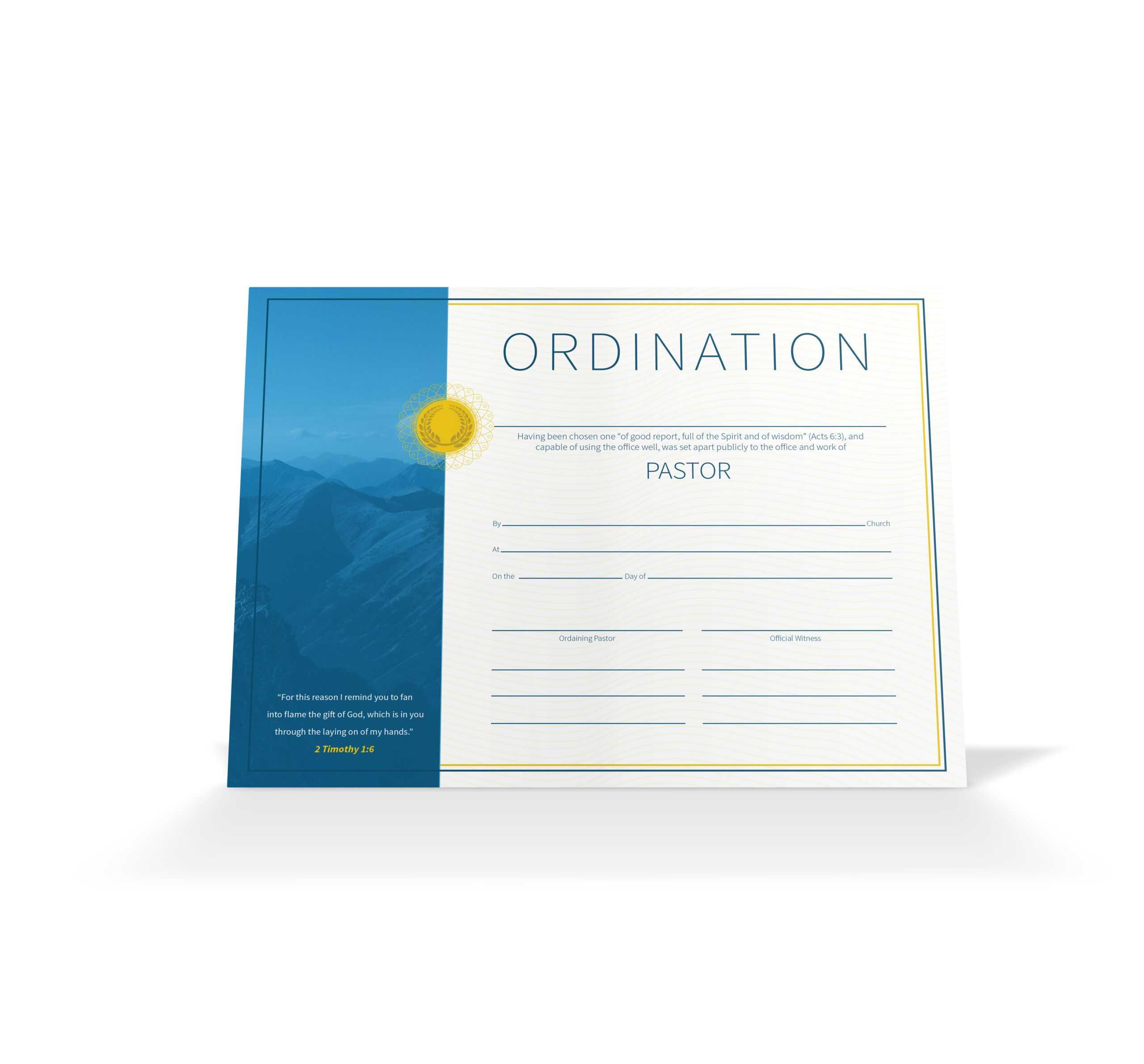 Pastor Ordination Certificate – Vineyard Digital Membership Pertaining To Ordination Certificate Templates
