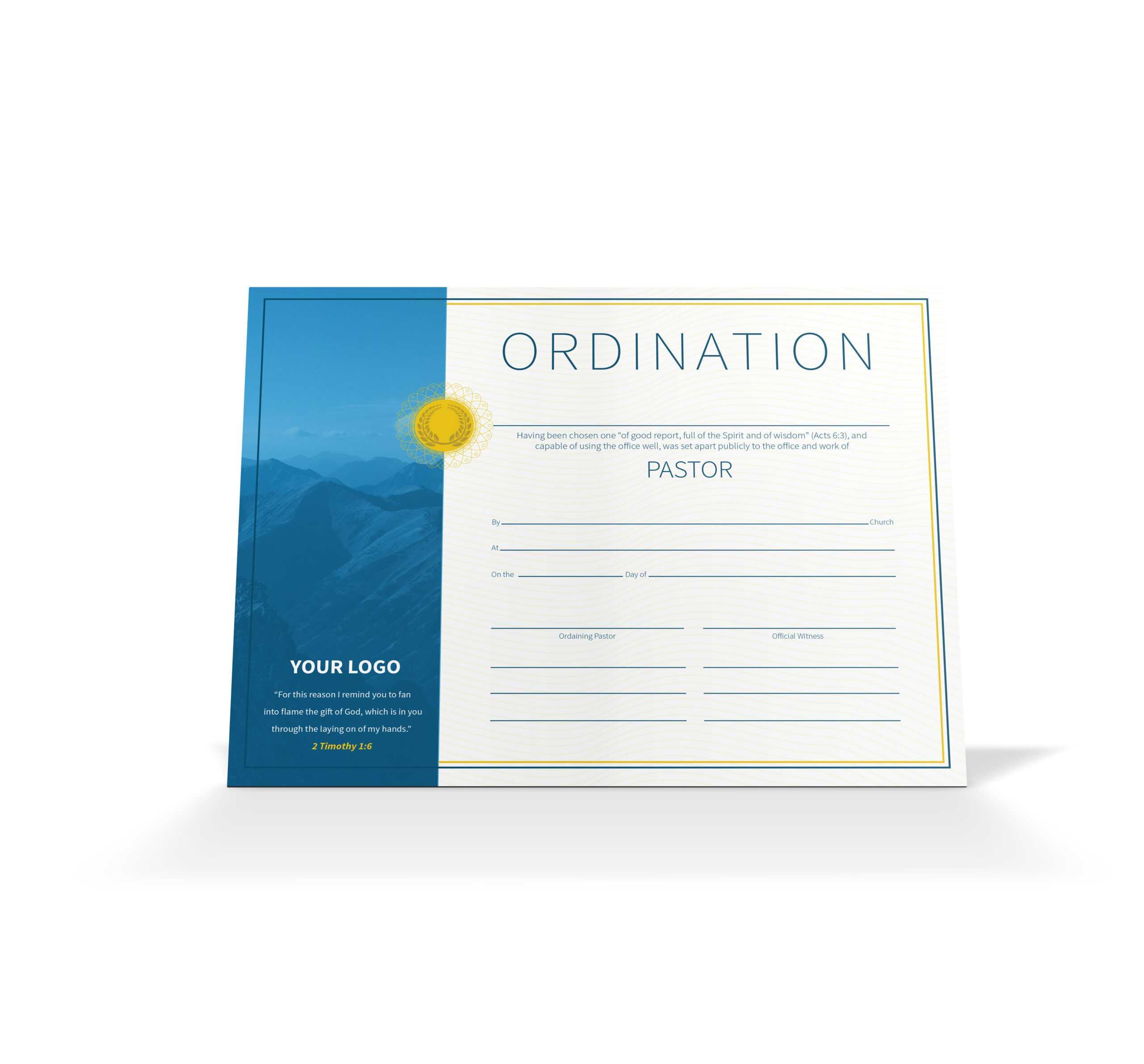 Pastor Ordination Certificate – Vineyard Digital Membership Regarding Ordination Certificate Templates