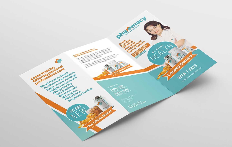 Pharmacy Tri Fold Brochure Template - Psd, Ai & Vector For Pharmacy Brochure Template Free