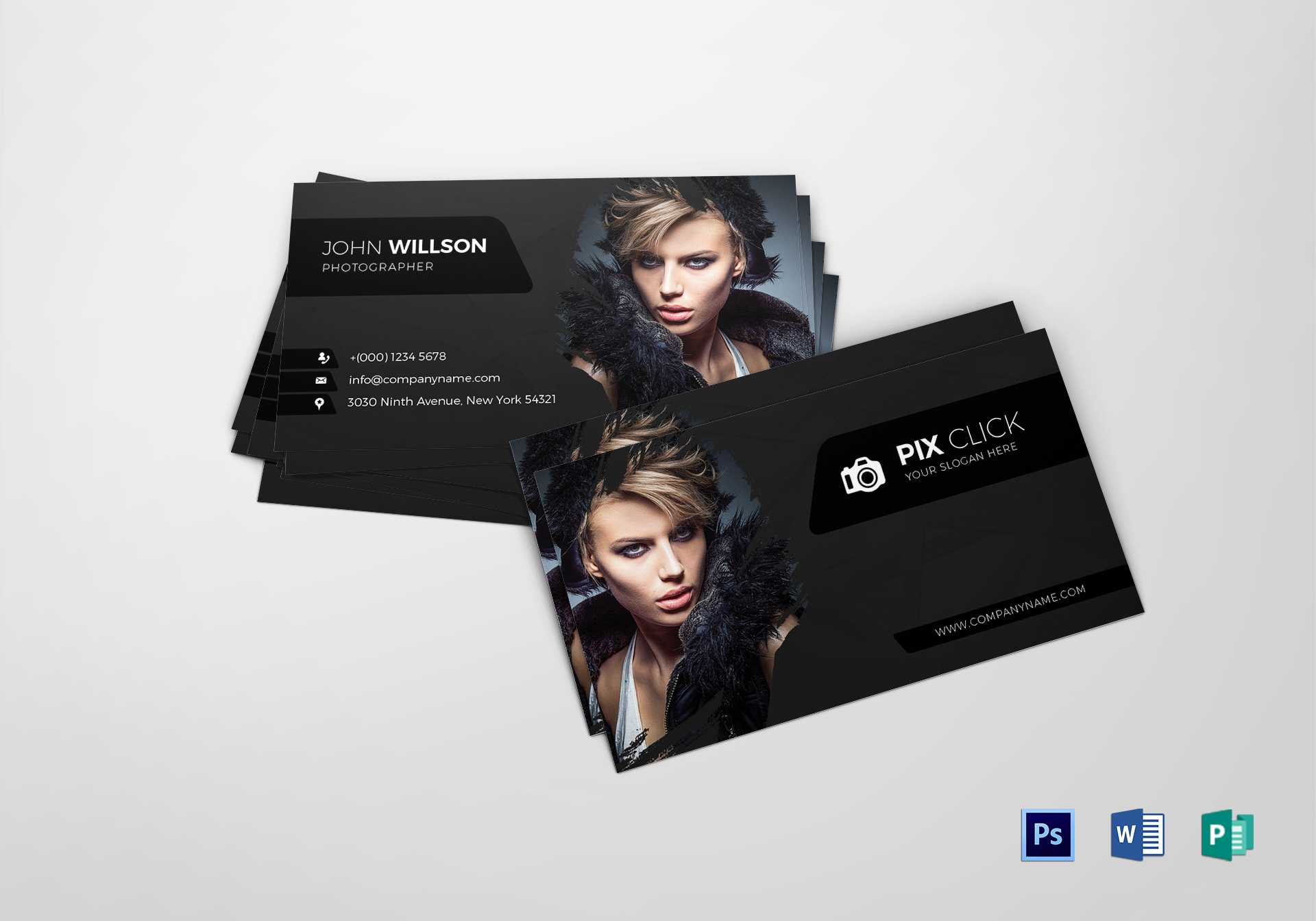 Photographer Business Card Template Intended For Photography Business Card Template Photoshop