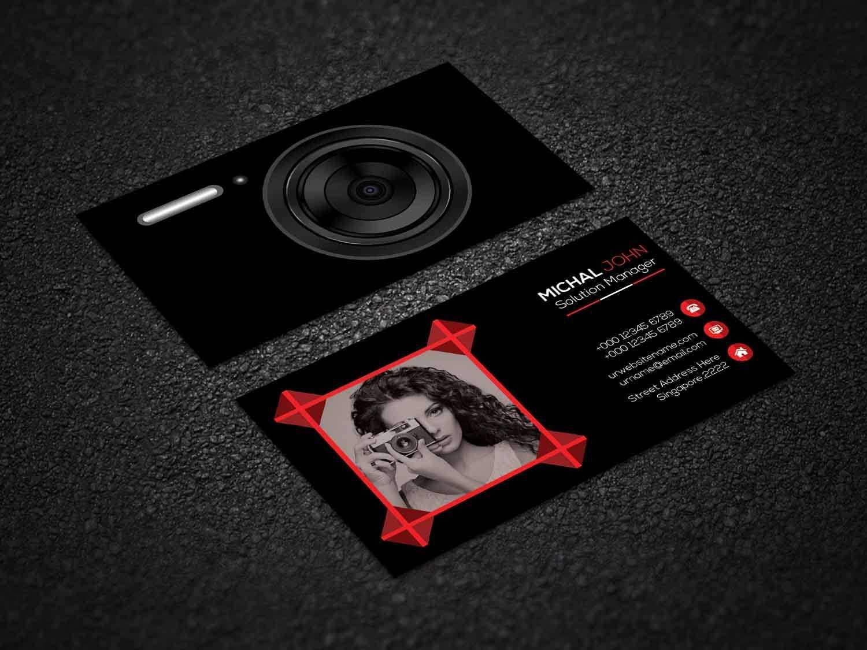 Photography Business Cardsumi Akther1 On Dribbble Intended For Photography Business Card Template Photoshop