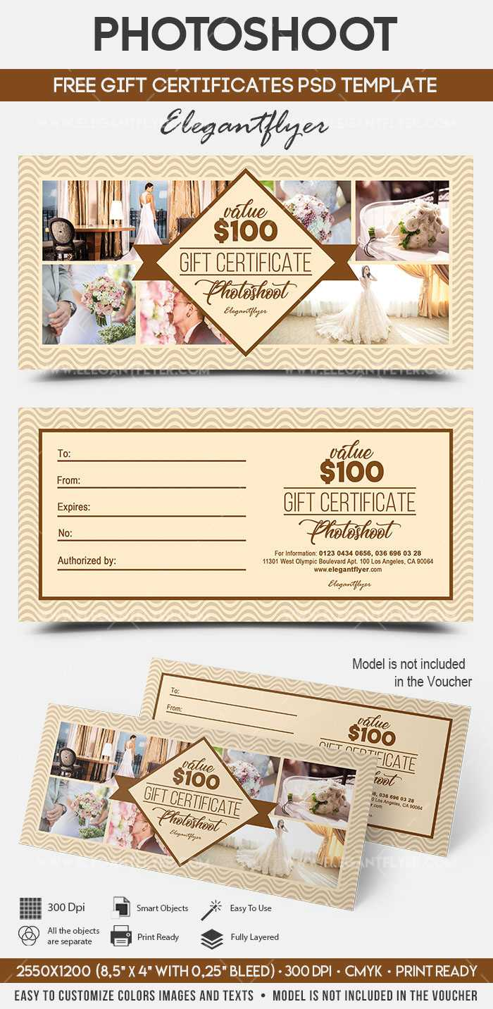 Photoshoot - Free Gift Certificate Psd Template On Behance Within Photoshoot Gift Certificate Template