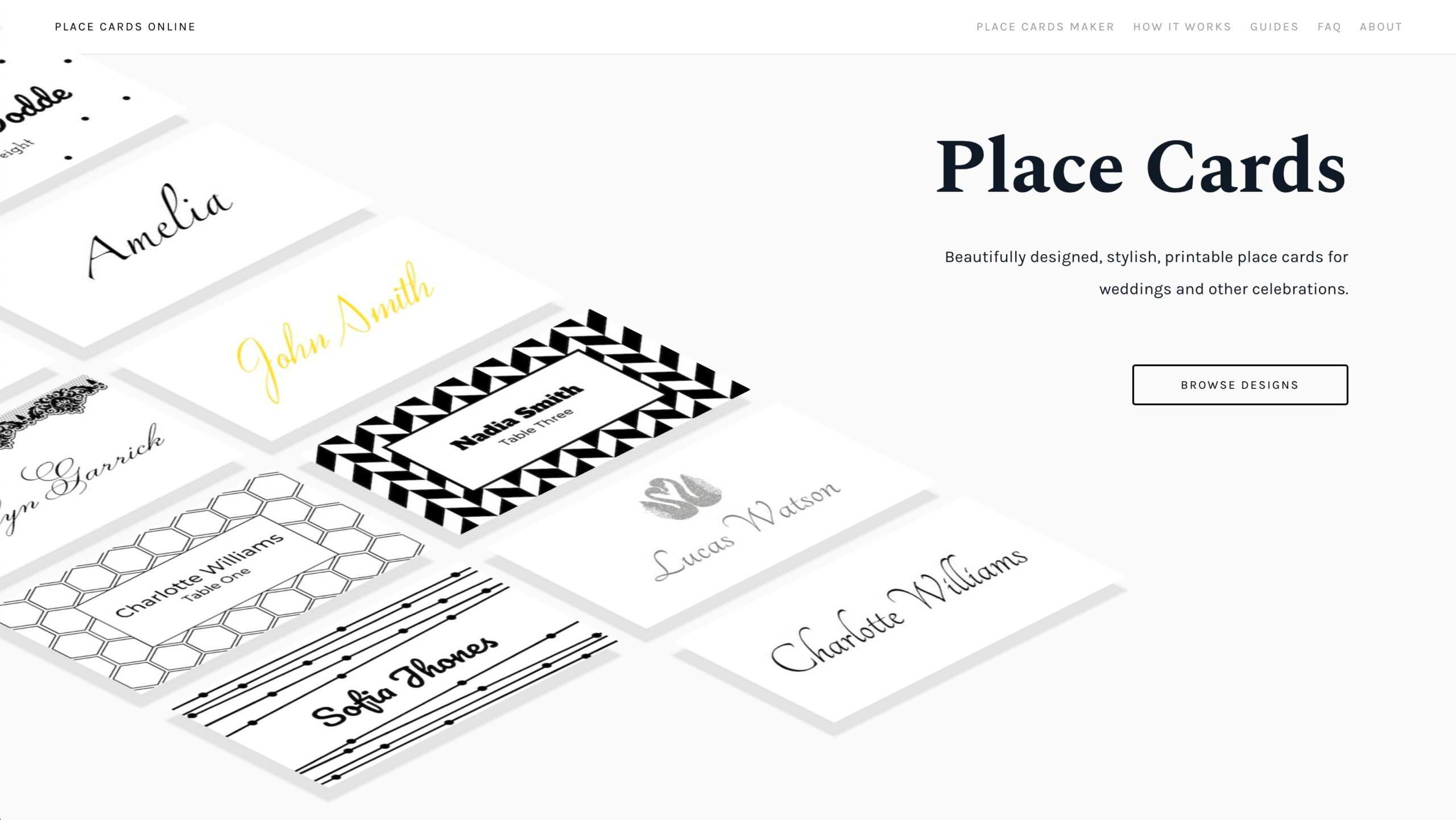 Place Cards Online - Place Cards Maker. Beautifully Designed With Celebrate It Templates Place Cards
