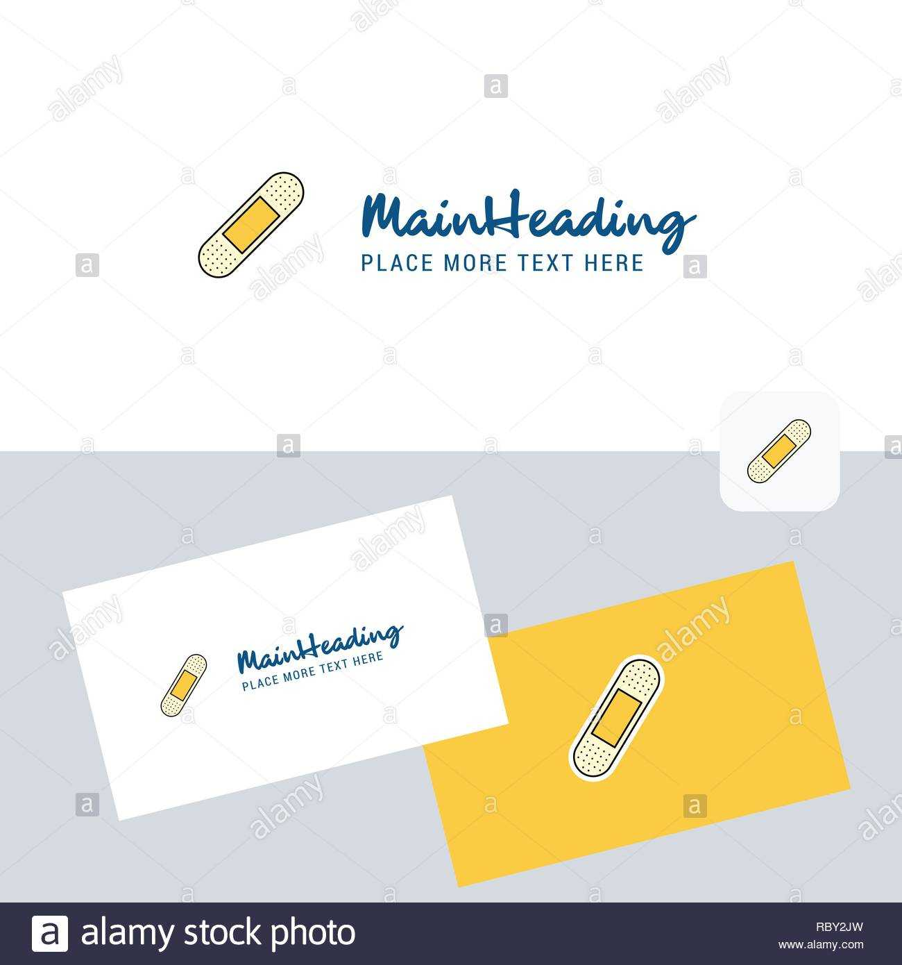 Plaster Vector Logotype With Business Card Template. Elegant Pertaining To Plastering Business Cards Templates