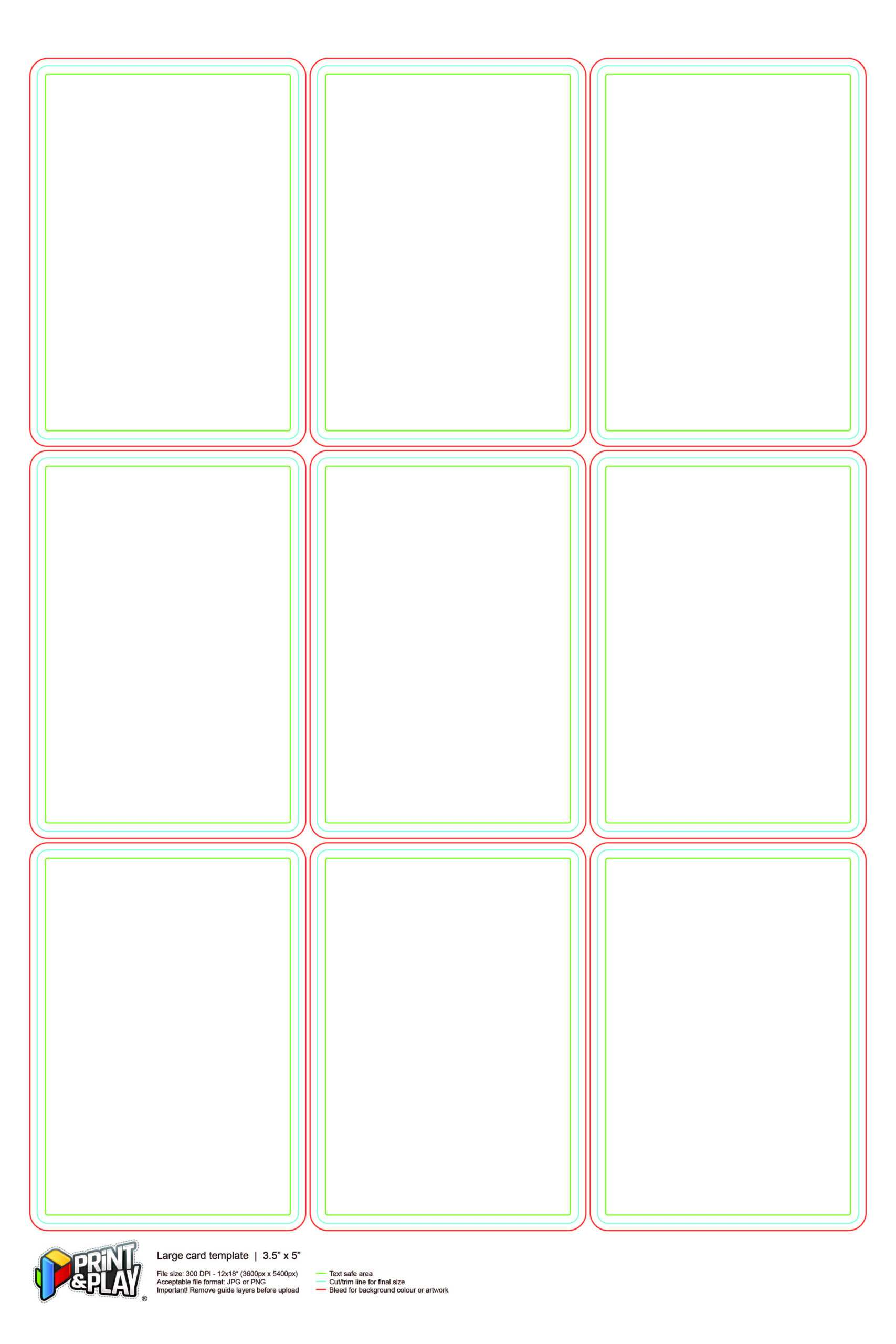 Playing Cards : Formatting & Templates - Print & Play In Template For Playing Cards Printable