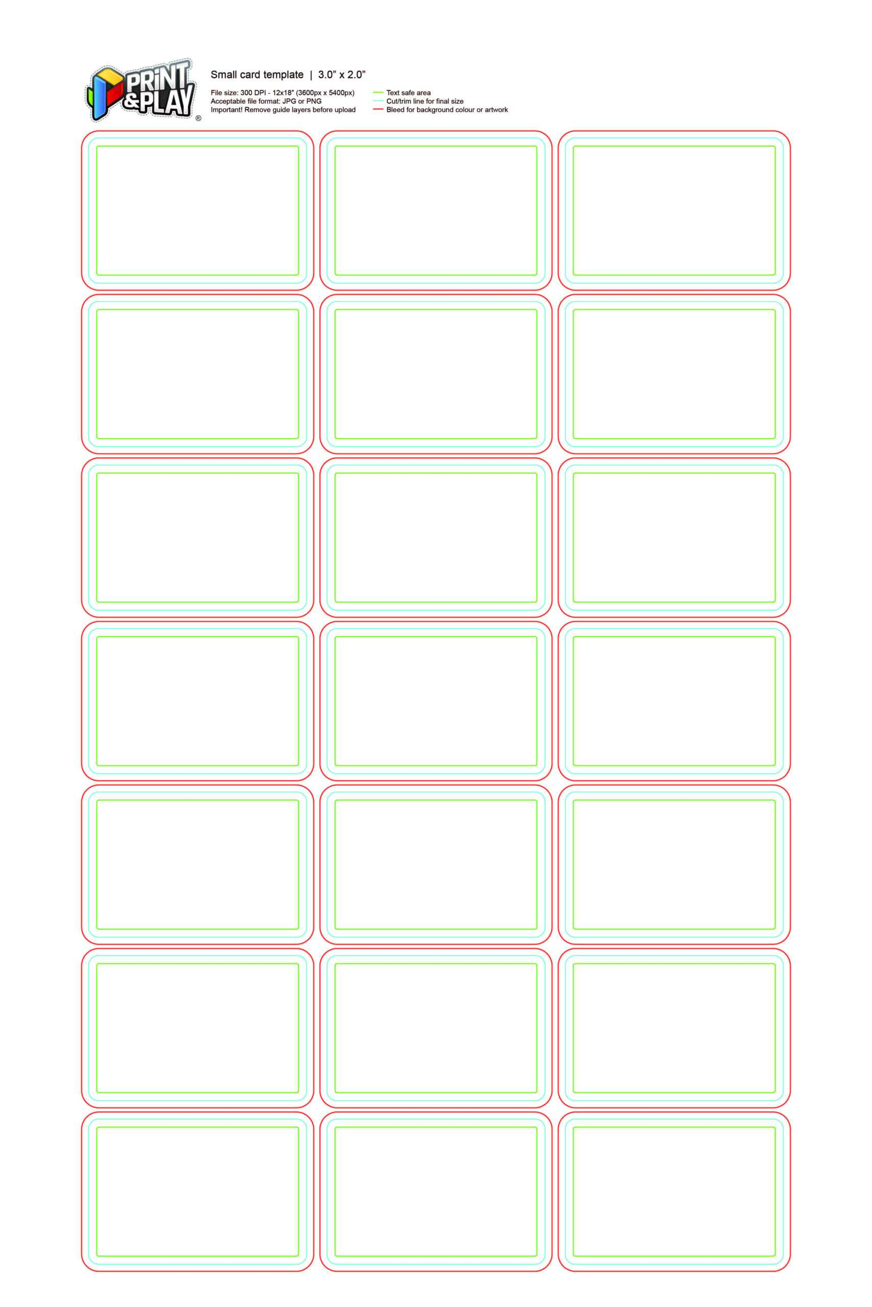 Playing Cards : Formatting & Templates - Print & Play Within Template For Game Cards