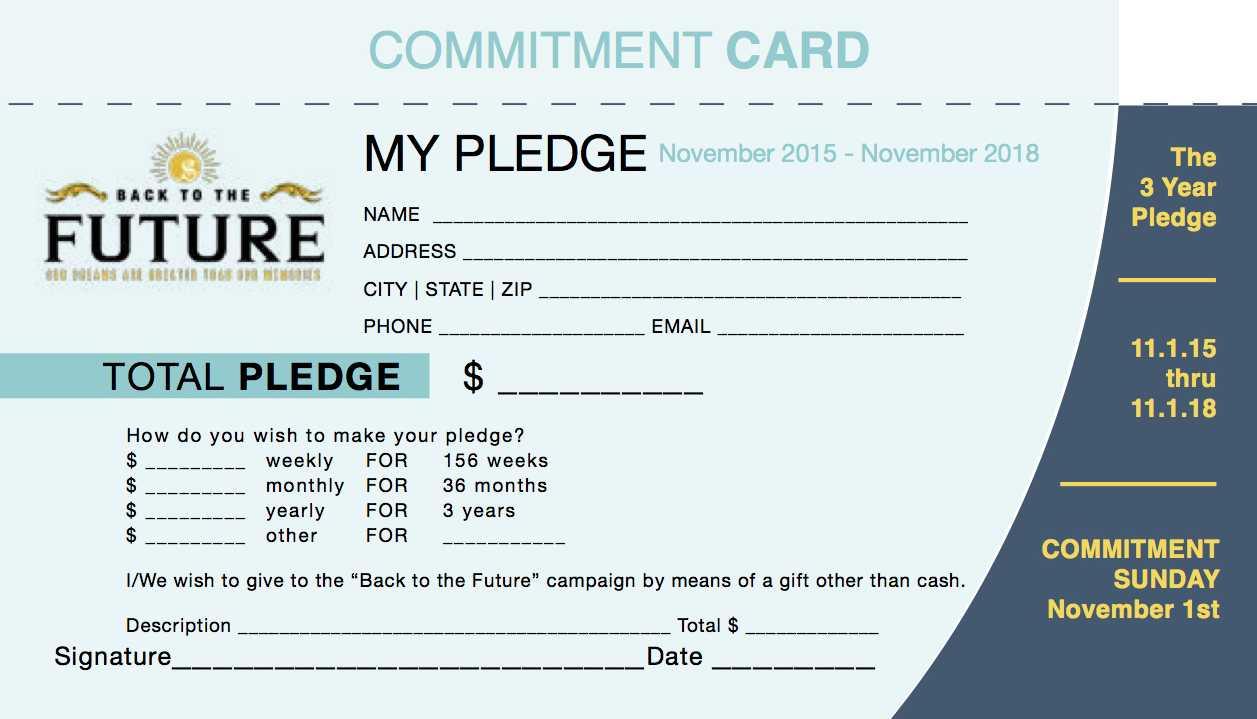 Pledge Card Template Word ] - Free Pledge Card Template Pertaining To Pledge Card Template For Church
