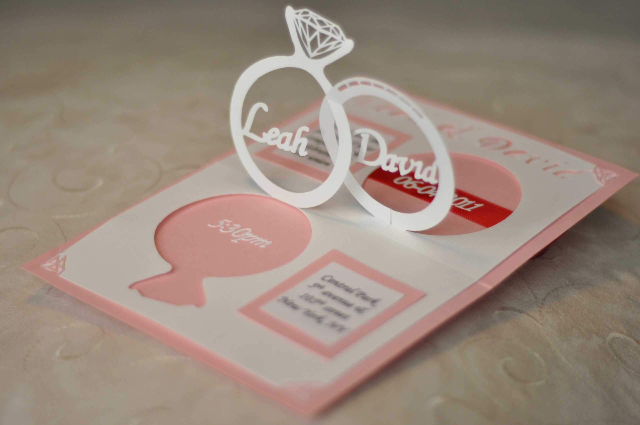 Pop Up Wedding Card Template Free ] - Wedding Card Templates With Wedding Pop Up Card Template Free