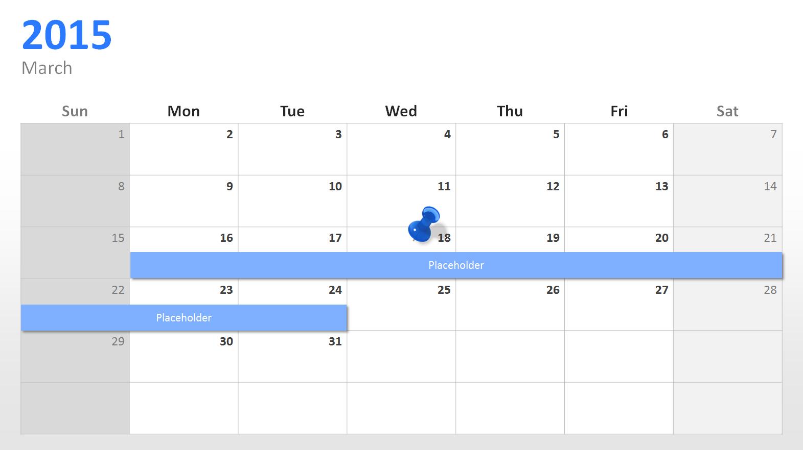 Powerpoint Calendar: The Perfect Start For 2015 Inside Powerpoint Calendar Template 2015