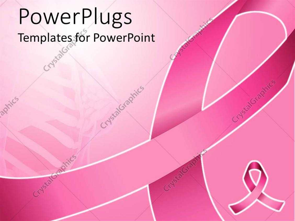 Powerpoint Template: Pink Ribbon For Fighting Breast Cancer Regarding Breast Cancer Powerpoint Template