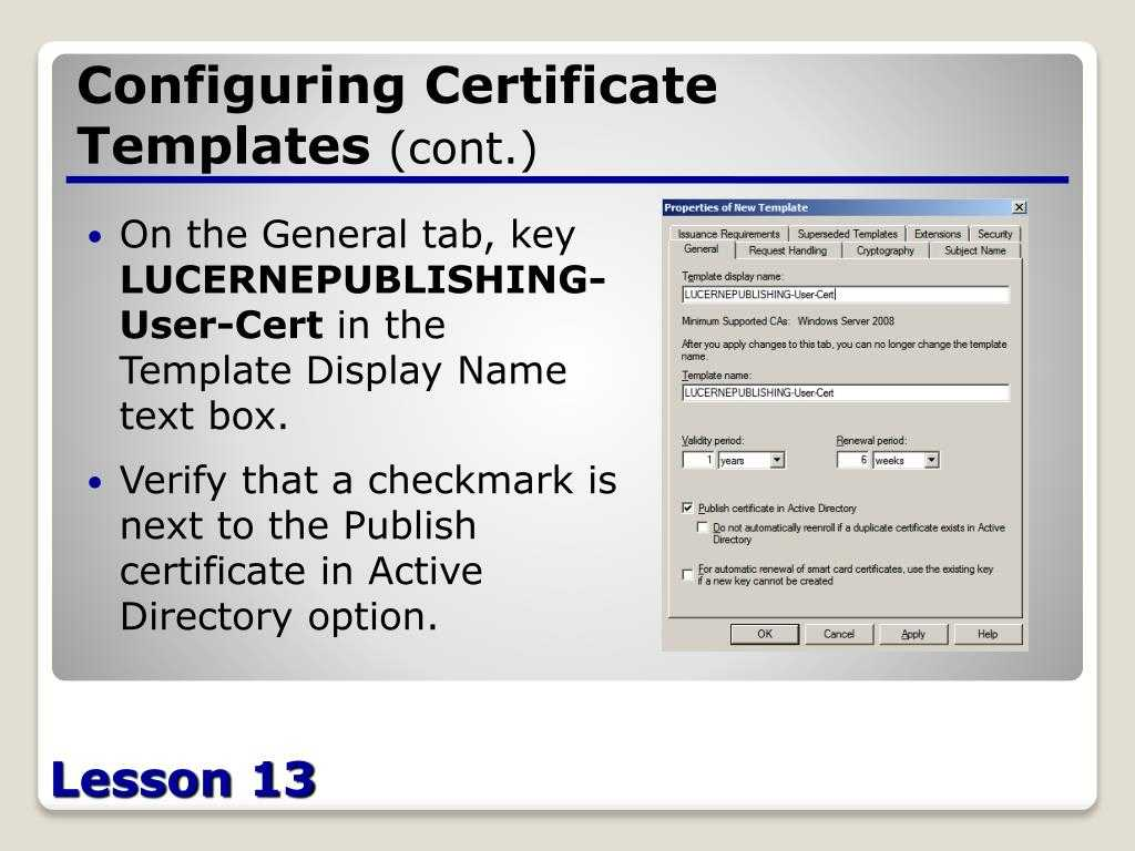 Ppt – Configuring Active Directory Certificate Services For Active Directory Certificate Templates