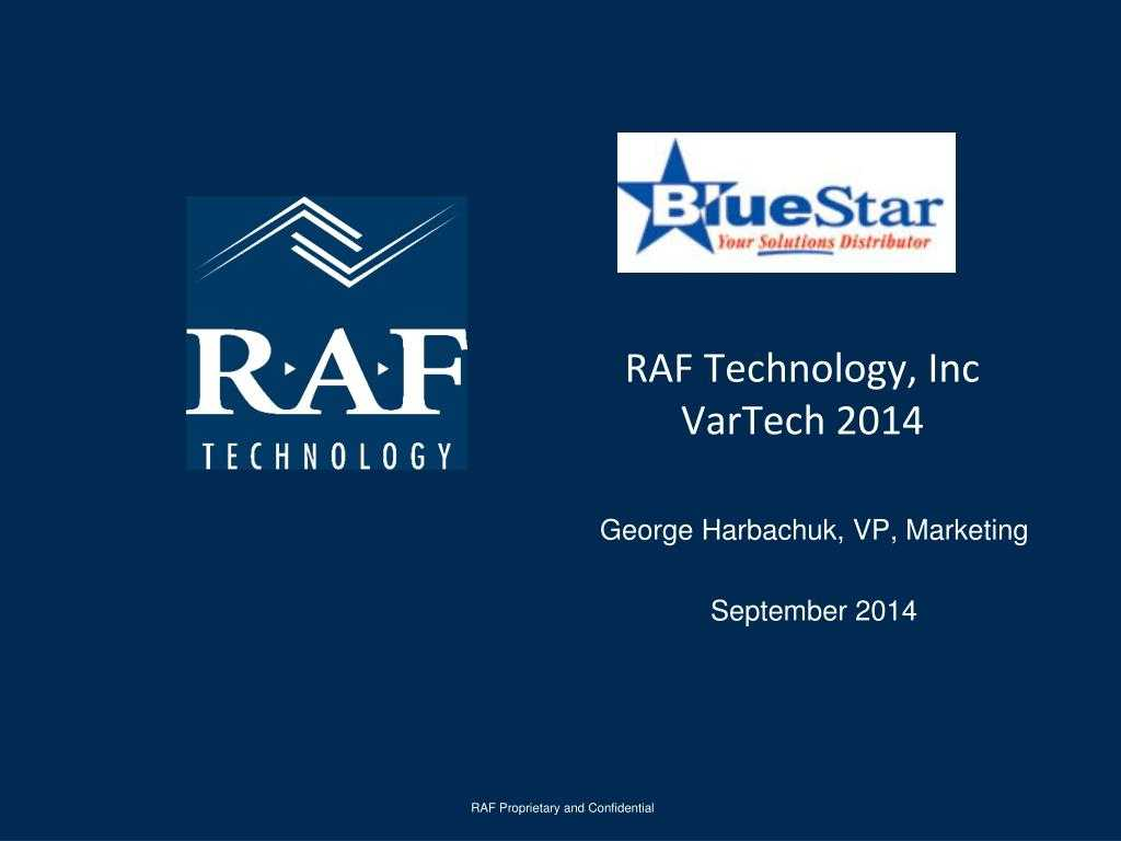 Ppt - Raf Technology, Inc Vartech 2014 Powerpoint For Raf Powerpoint Template