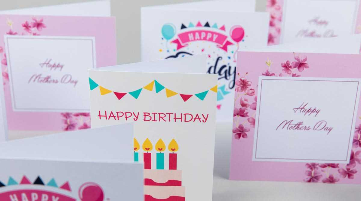 Print Greeting Cards | Custom Greeting Cards | Digital With Birthday Card Indesign Template