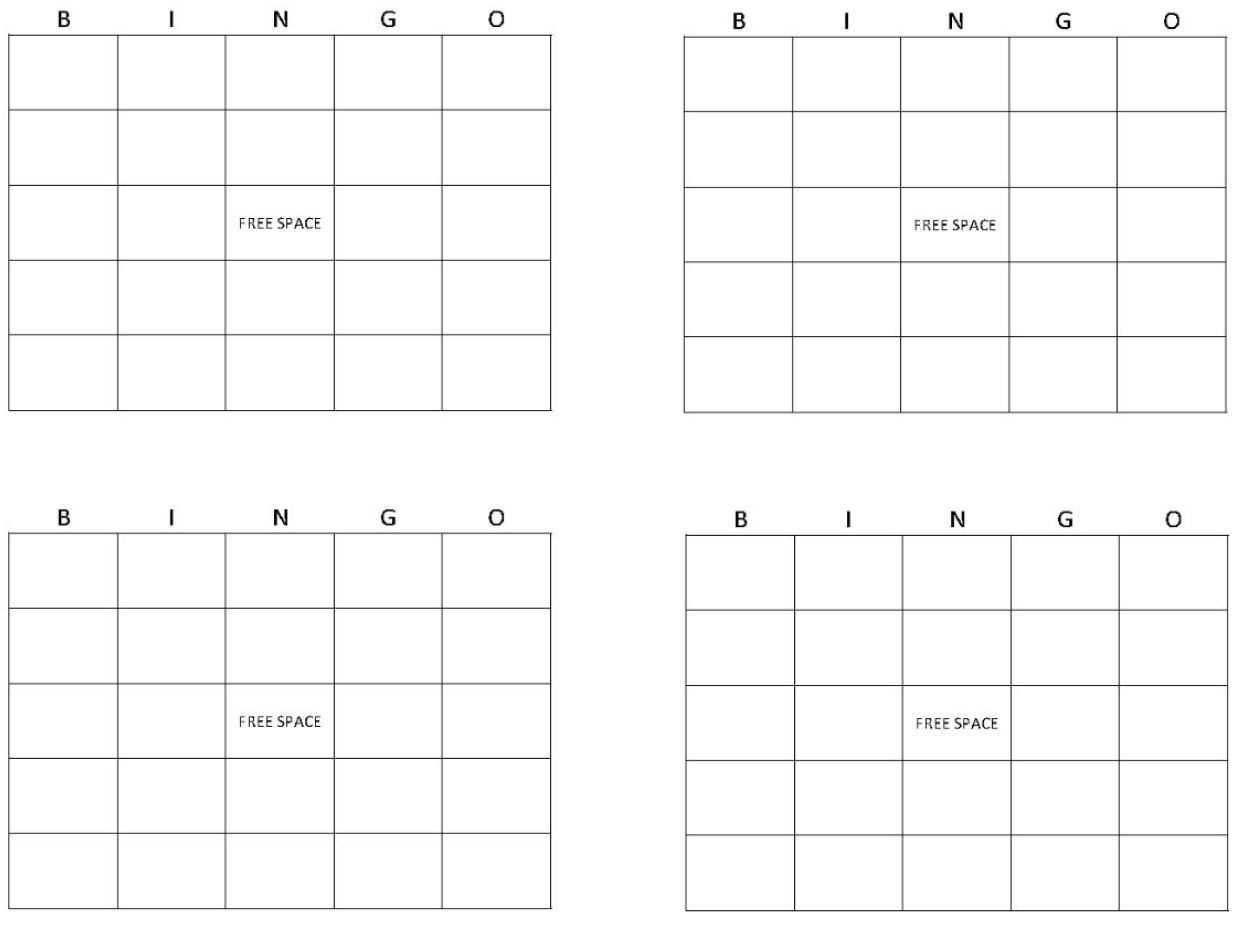 Printable Bingo Cards   Get Bingo Cards Here For Blank Bingo Card Template Microsoft Word