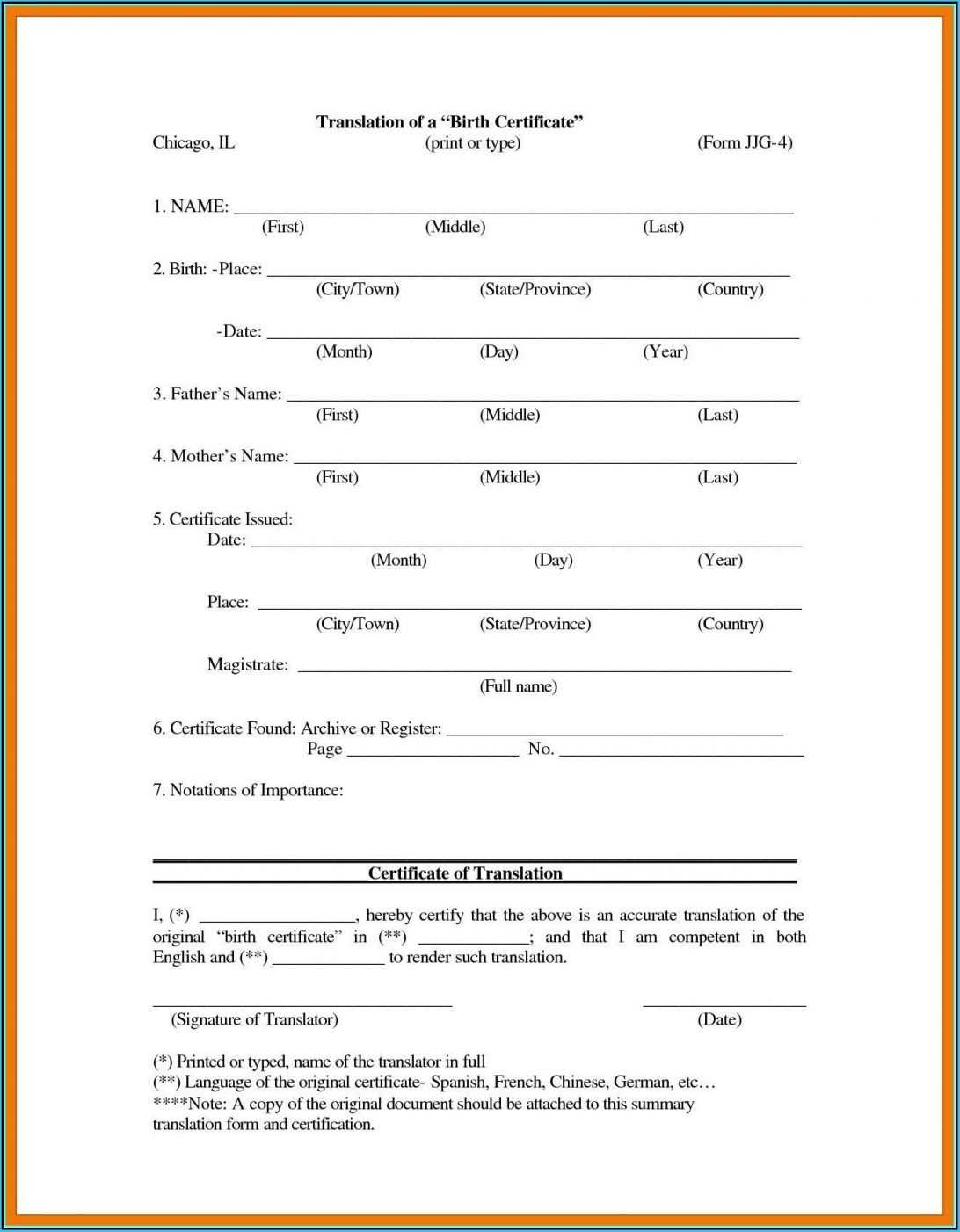 Printable Birth Certificate Form Pa Blank Bd Pdf Philippines Pertaining To Official Birth Certificate Template