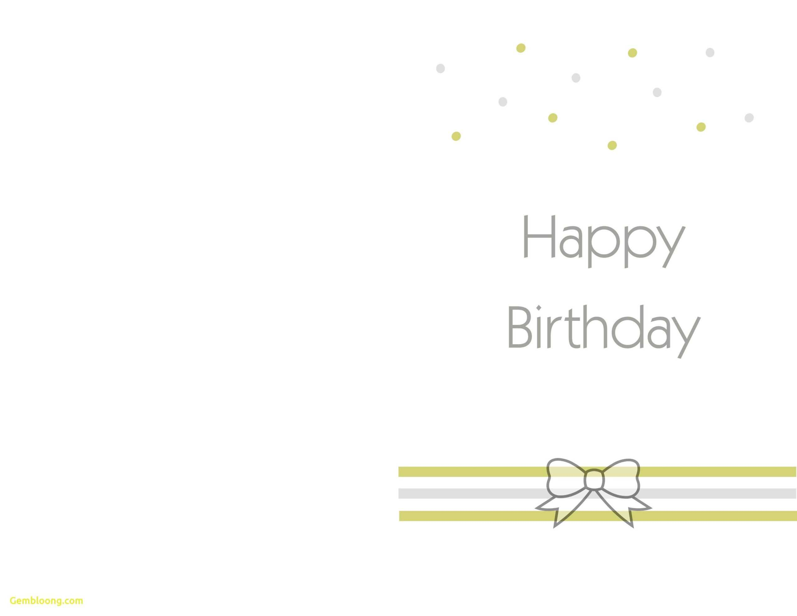 Printable Birthday Cards Foldable - Colona.rsd7 Pertaining To Foldable Birthday Card Template