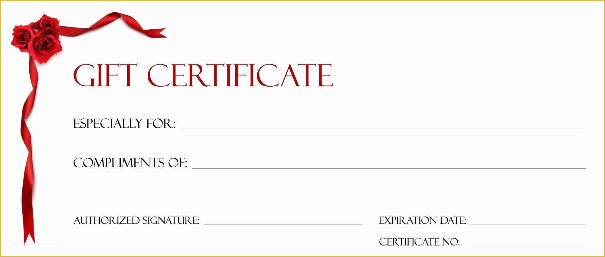 Printable Christmas Gift Certificate Template Regarding Free Christmas Gift Certificate Templates