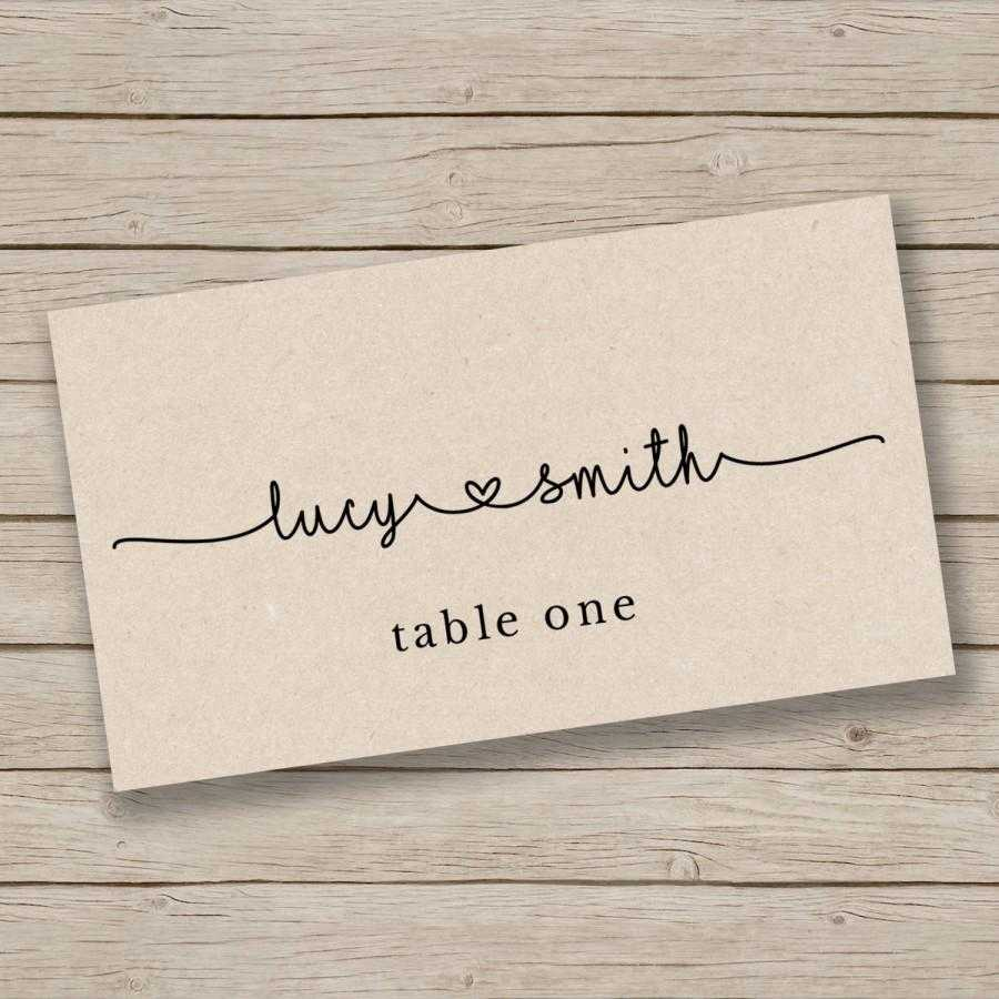 Printable Escort Card Template - Place Card Template - Tent Within Printable Escort Cards Template