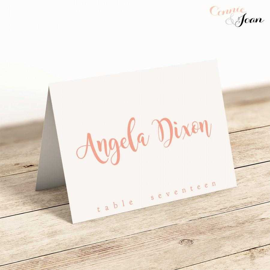 Printable Folded Place Cards Table Name Cards Template Intended For Table Name Card Template