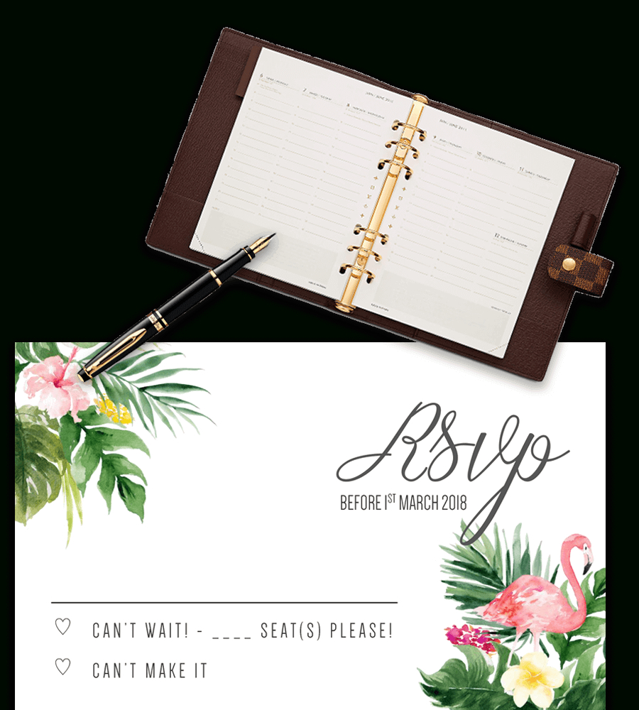 Printable Free Wedding Rsvp Template & Cards Microsoft Word Inside Free Printable Wedding Rsvp Card Templates