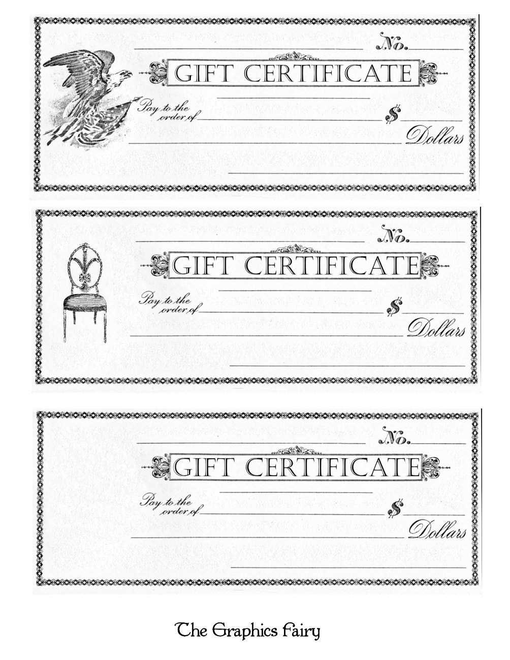 Printable Gift Certificates Template Awesome Free Printable For Printable Gift Certificates Templates Free