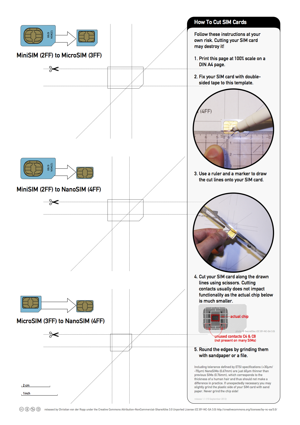 Printable Nano Sim And Micro Sim Cutting Guide [Download With Sim Card Cutter Template