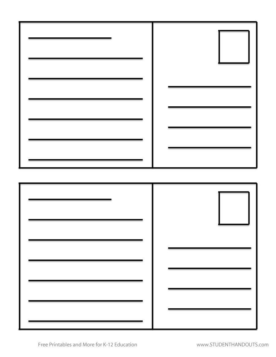Printable Postcard Template | Room Surf With Post Cards Template