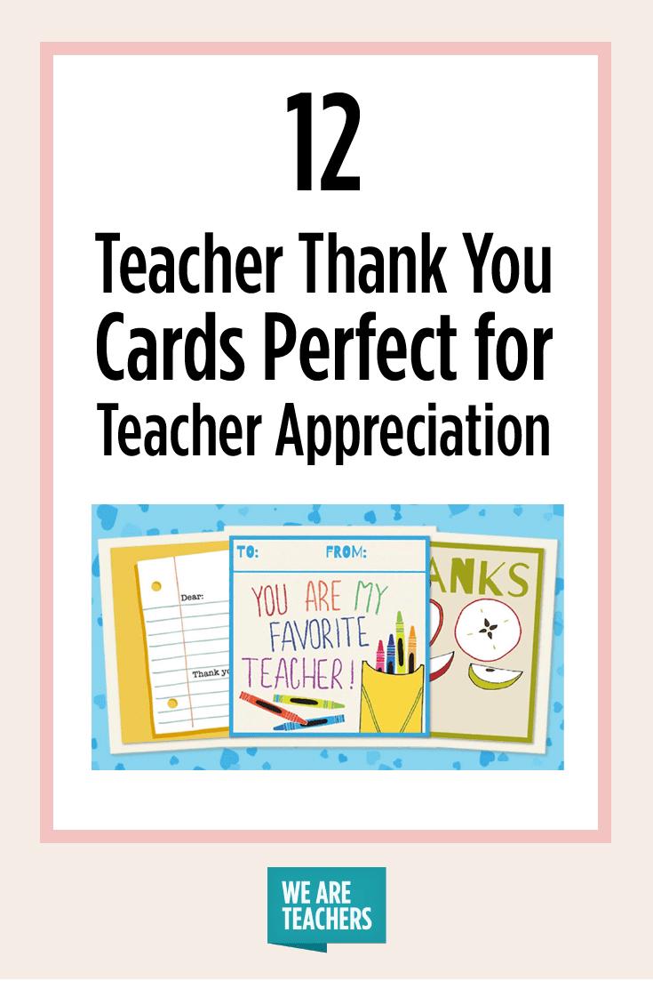 Printable Teacher Thank You Cards For Teacher Appreciation Within Thank You Card For Teacher Template