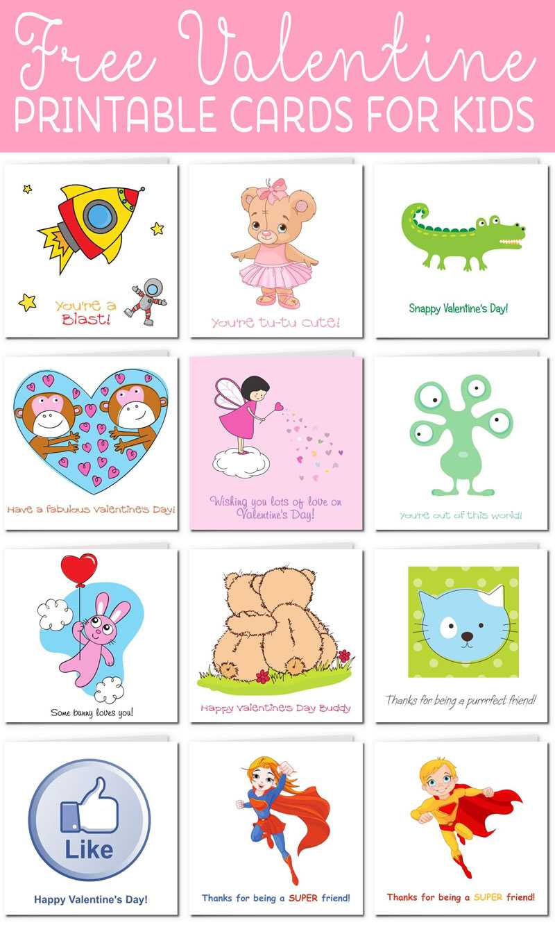 Printable Valentine Cards For Kids Pertaining To Valentine Card Template For Kids