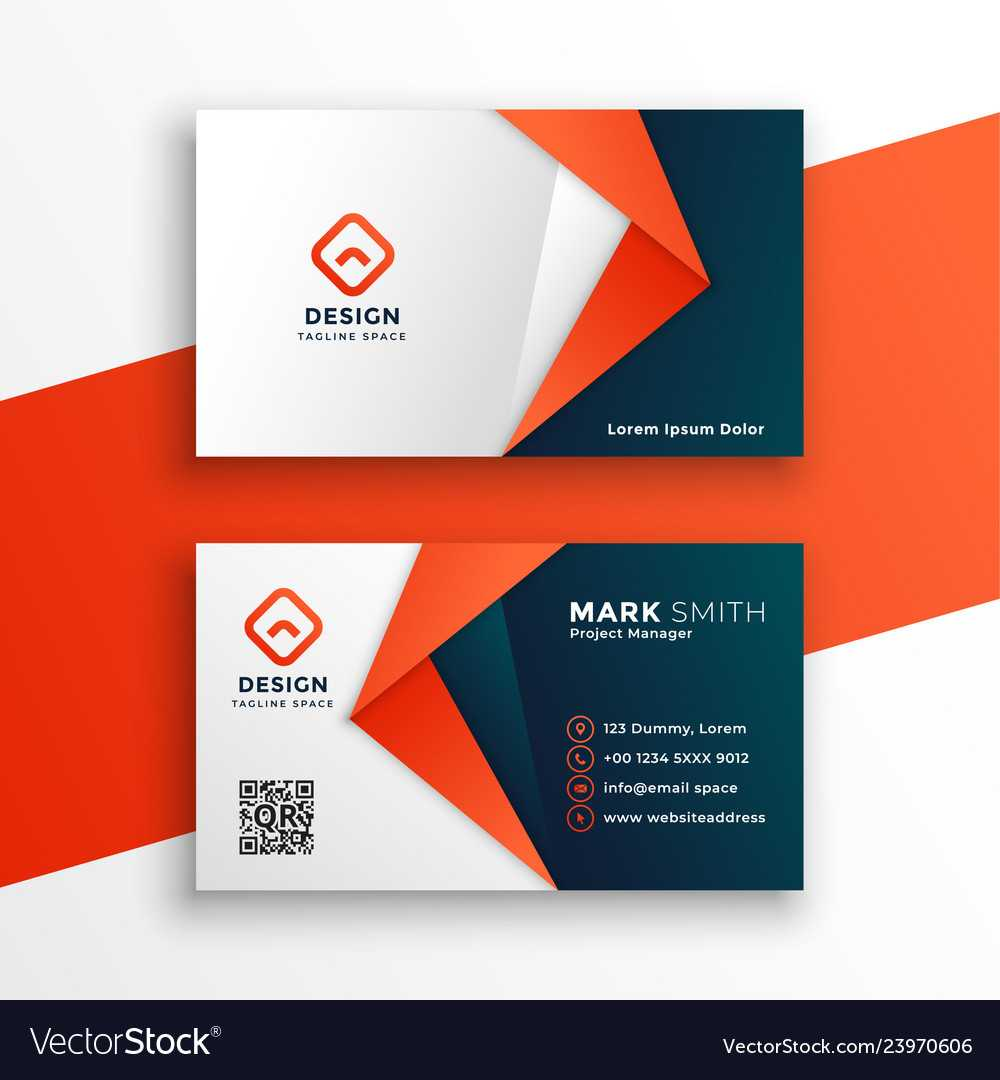 Professional Business Card Template Design Intended For Designer Visiting Cards Templates