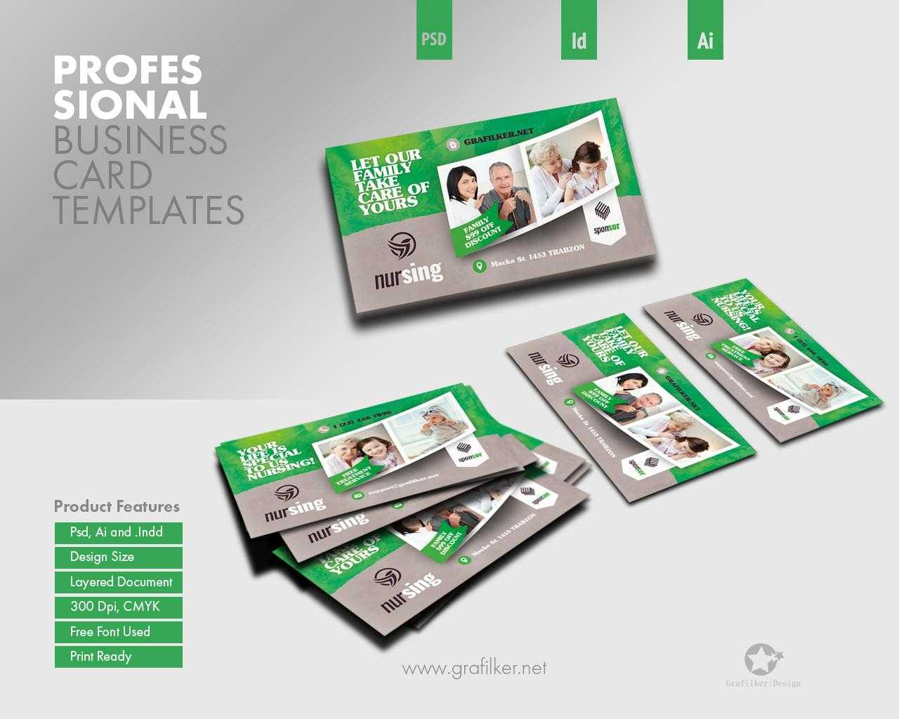 Professional Business Card Templatesgrafilker On Envato With Advertising Cards Templates