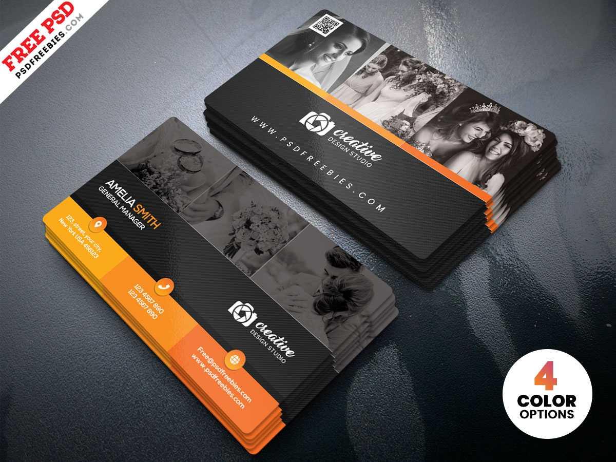 Professional Photographer Business Card Design Psd Inside Photography Business Card Template Photoshop