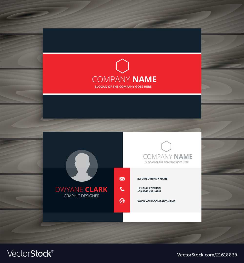 Professional Red Business Card Template Throughout Professional Name Card Template