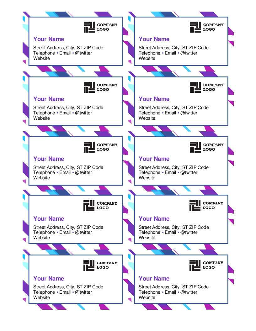 Purple Graphic Business Cards Inside Business Cards Templates Microsoft Word