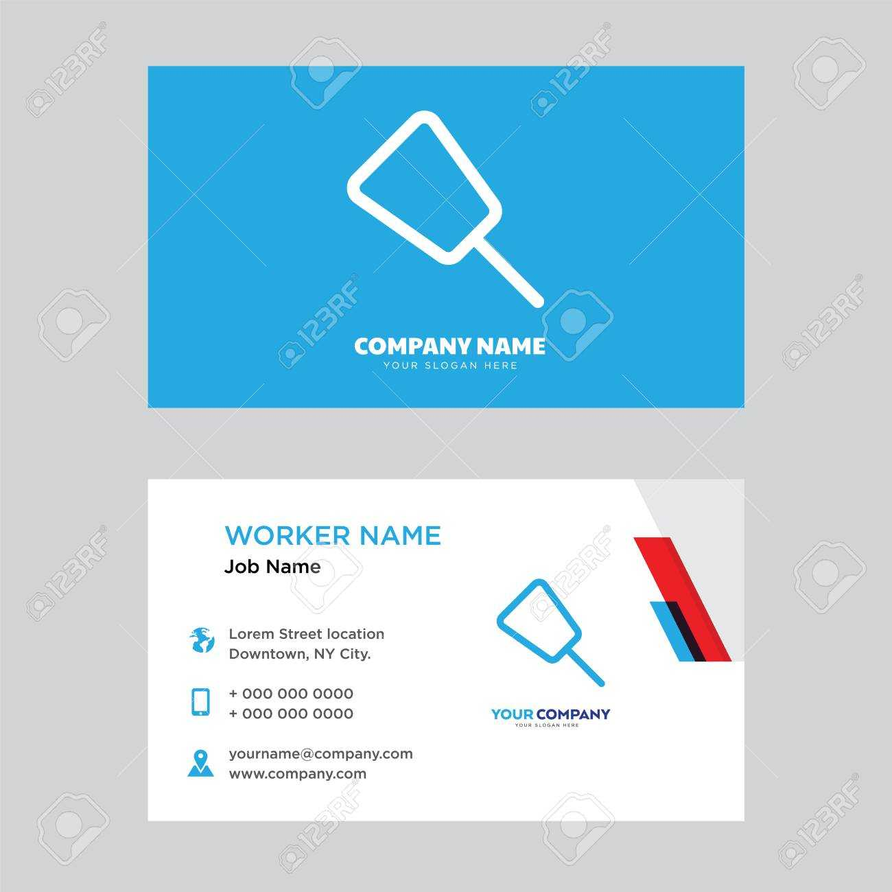 Push Pin Business Card Design Template, Visiting For Your Company,.. Pertaining To Push Card Template