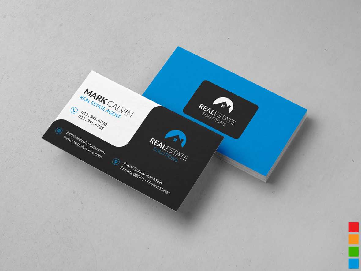 Real Estate Business Card 34 – Graphic Pick Pertaining To Real Estate Agent Business Card Template