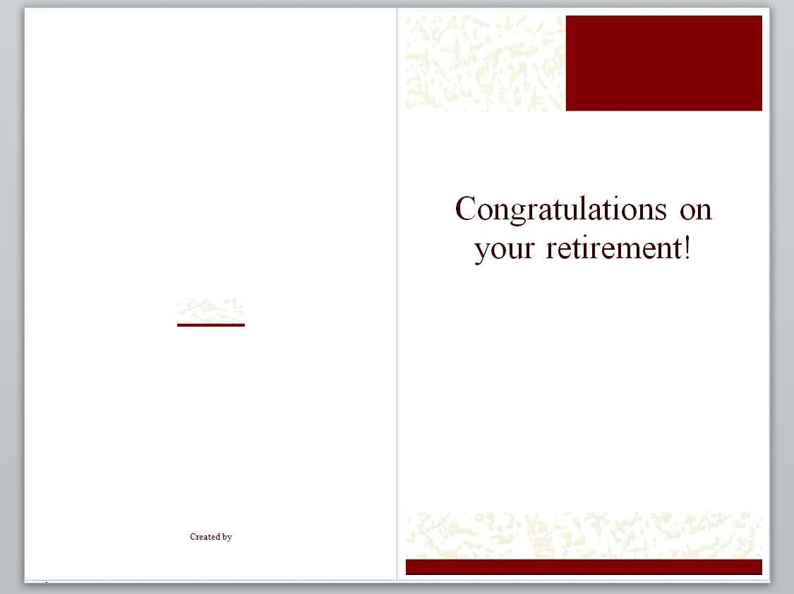 Retirement Card Template | Retirement Cards For Retirement Card Template