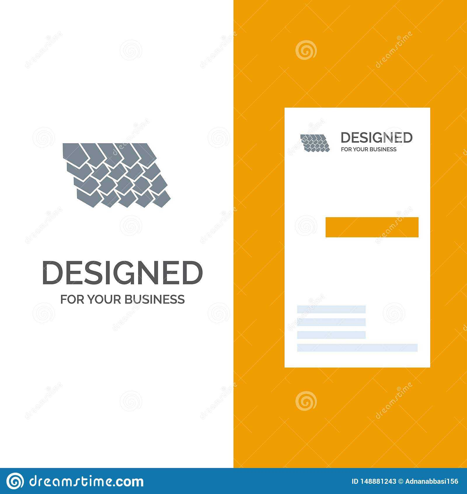 Roof, Tile, Top, Construction Grey Logo Design And Business Throughout Construction Business Card Templates Download Free