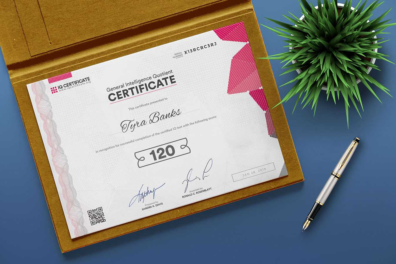 Sample Iq Certificate - Get Your Iq Certificate! In Iq Certificate Template