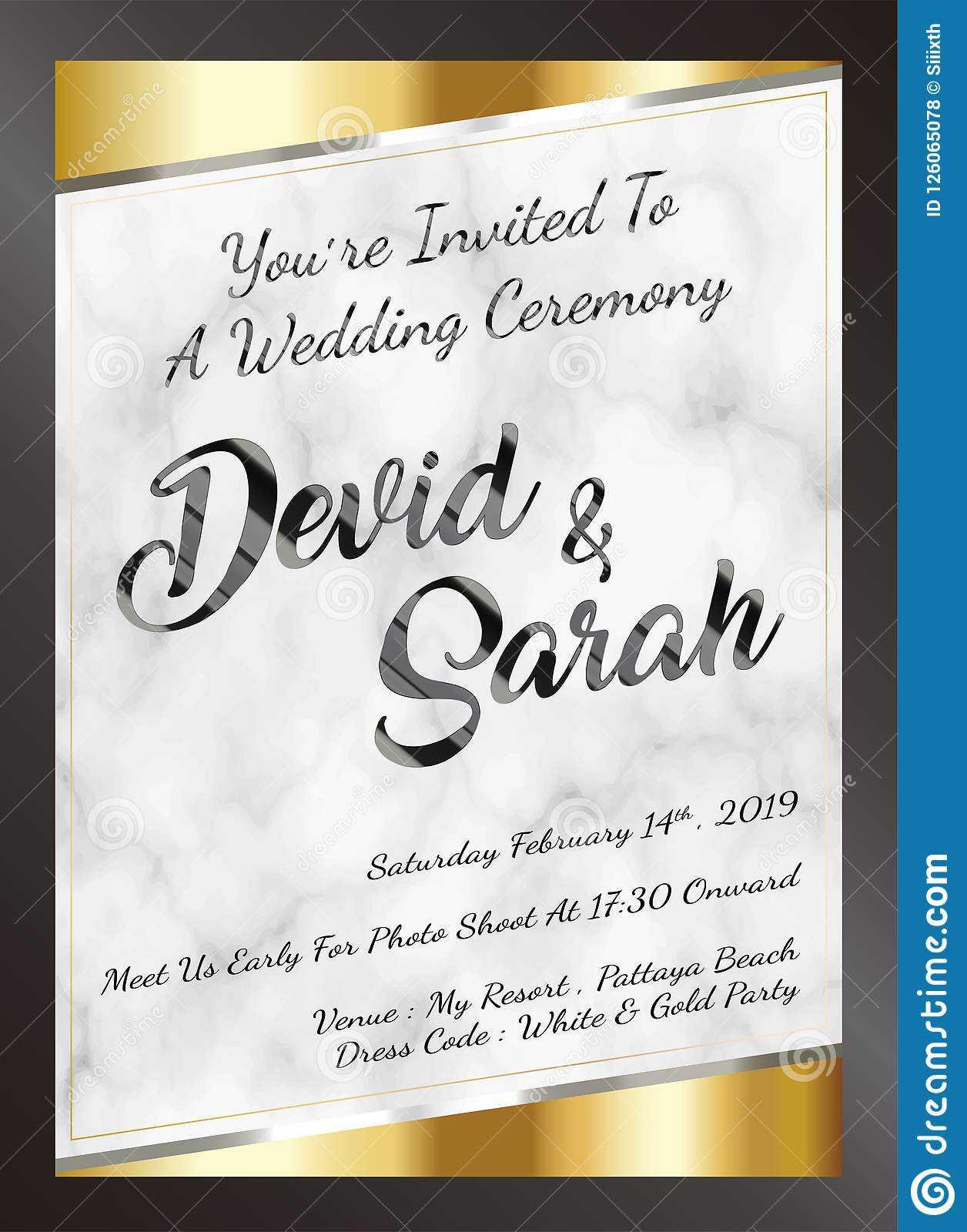 Sample Wedding Card Invitation Template Vector Eps Stock For Sample Wedding Invitation Cards Templates