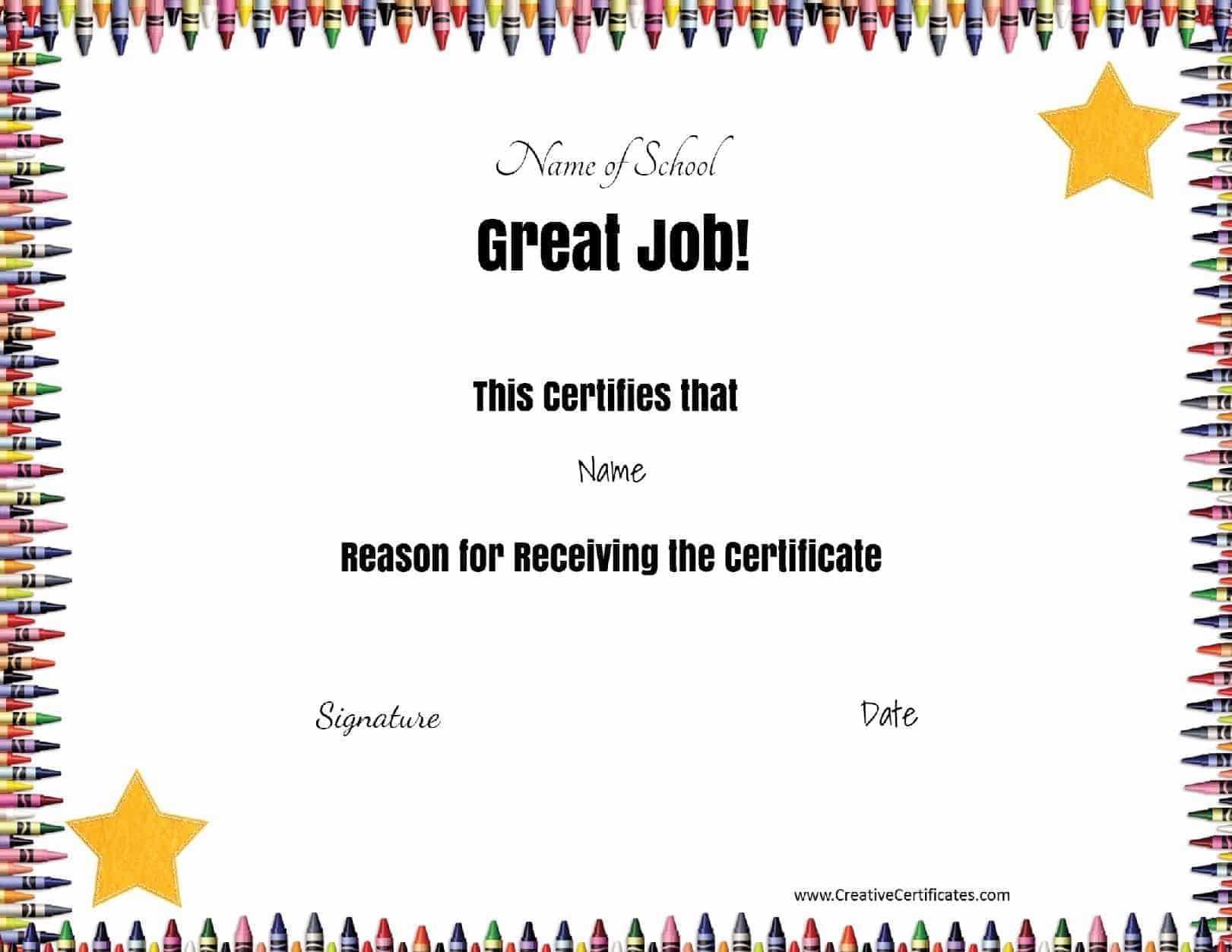 School Certificates With Regard To Free School Certificate Templates