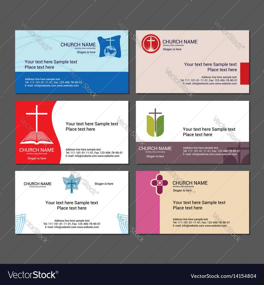 Set Christian Business Cards For The Church With Regard To Christian Business Cards Templates Free