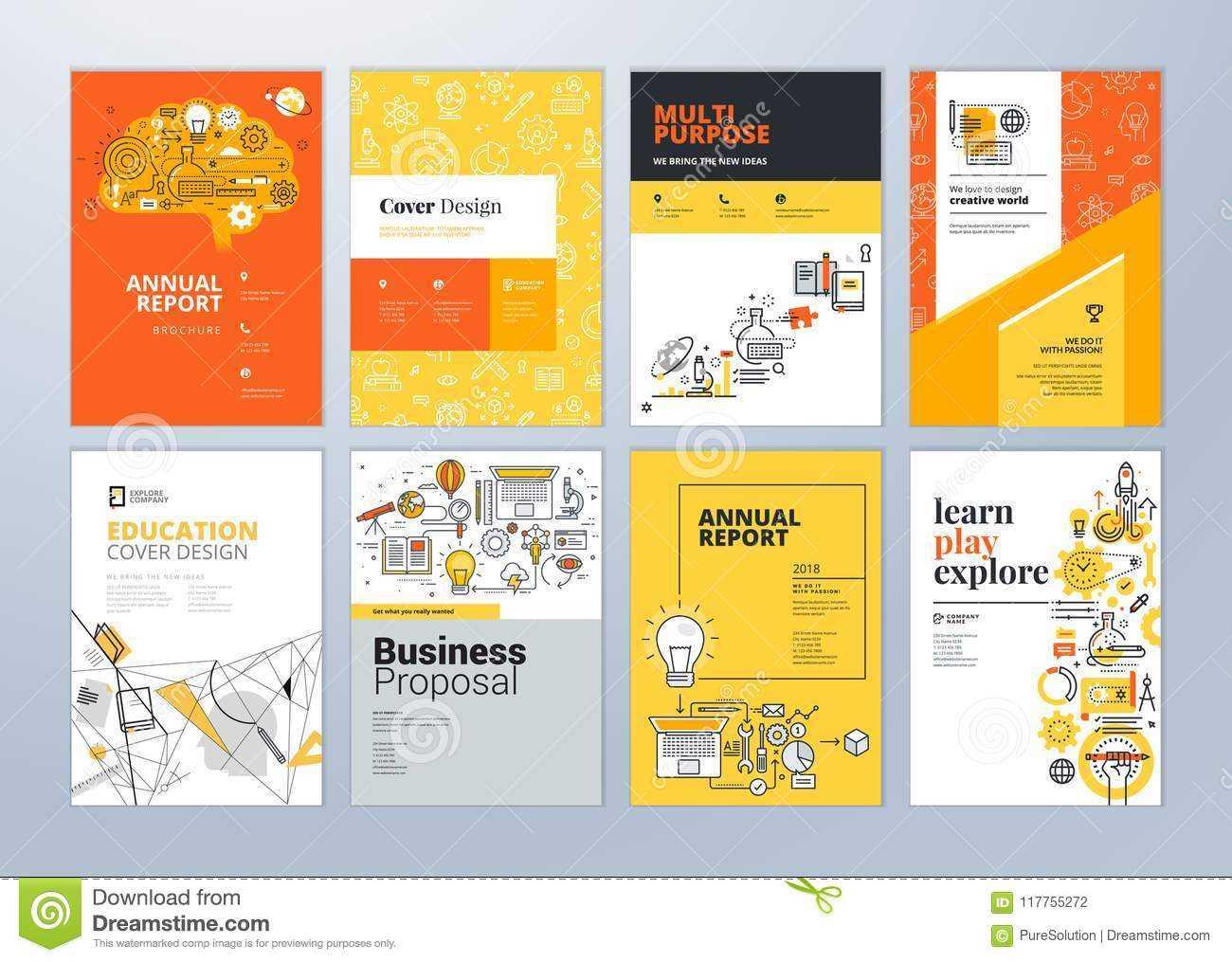 Set Of Brochure Design Templates On The Subject Of Education Inside School Brochure Design Templates