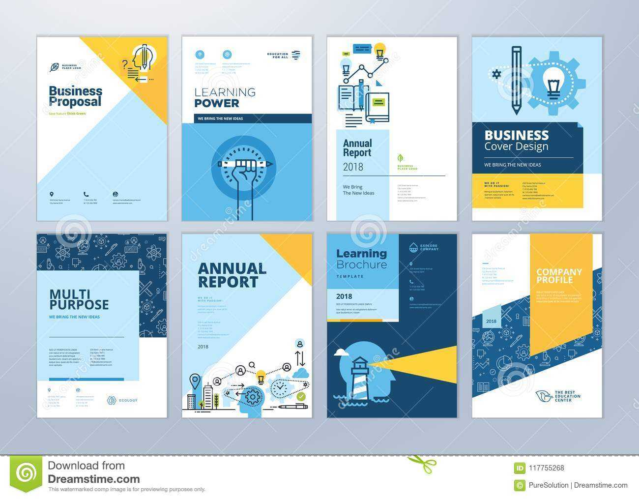 Set Of Brochure Design Templates On The Subject Of Education Pertaining To School Brochure Design Templates