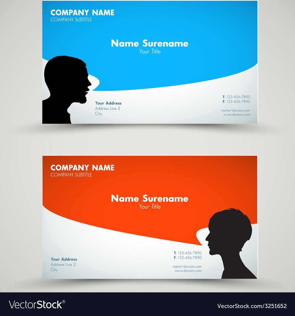 Set Of Modern Business Card Templates With Regard To Advertising Cards Templates