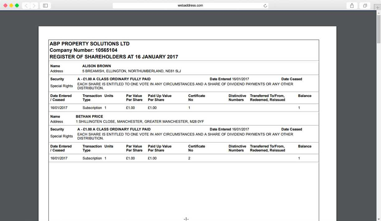 Share Certificates | Thecompanywarehouse.co.uk Inside Share Certificate Template Companies House