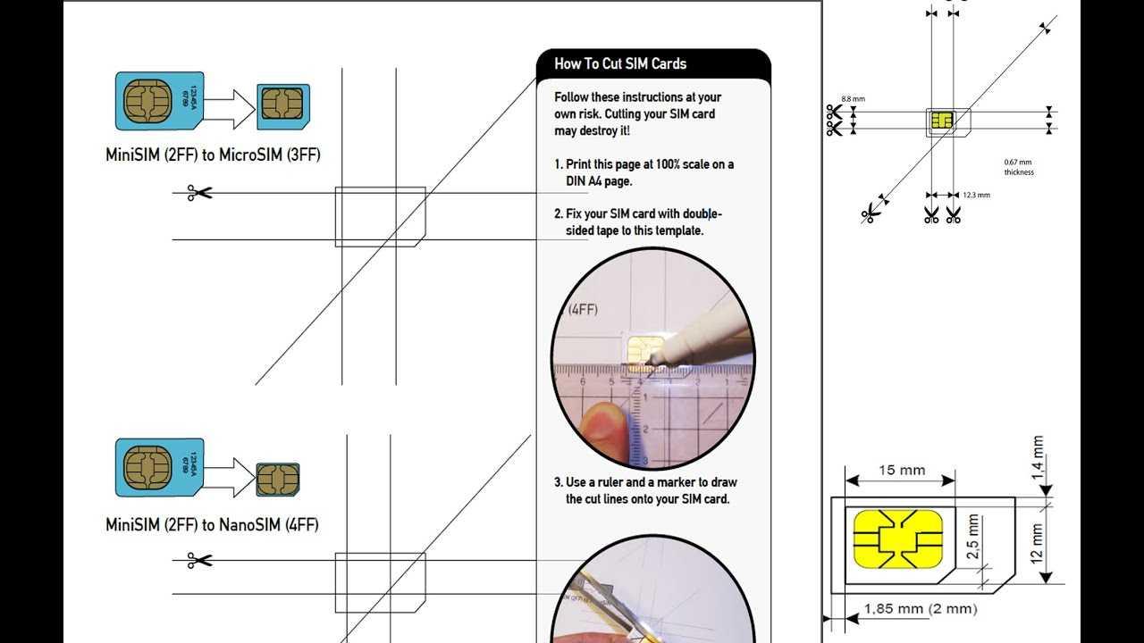 Sim Card Template Nano | Refference Cv Samples For Sim Card Cutter Template